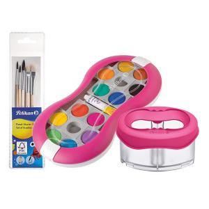 Pelikan Set pinke Wasserbox & Deckfarbkasten Space+...