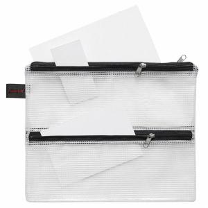 FolderSys Sammelbeutel, A5, 3 Zusatzfächer, PVC klar...