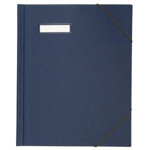 Elba 100420821 Umlaufmappe colors A4 PVC blau Eckspanngummi