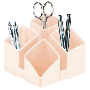 HAN Schreibtischköcher SCALA, quarzrosa mit 4...