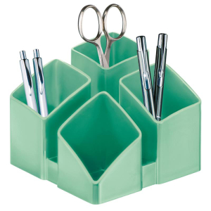 HAN Schreibtischköcher SCALA, jade grün mit 4...