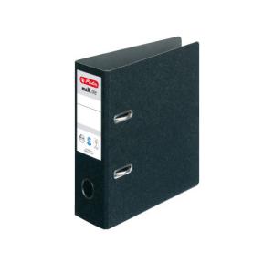 herlitz maX.file Ordner - DIN A5 hoch - 7,5 cm - schwarz