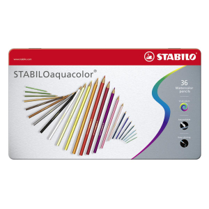 STABILO® Farbstift aquacolor Metalletui 36St