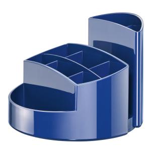 HAN Schreibtischköcher RONDO, blau 9 Fächer,...