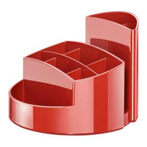 HAN Schreibtischköcher RONDO, rot 9 Fächer,...