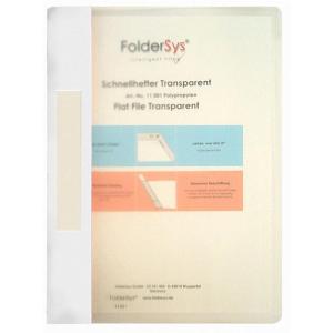 FolderSys Schnellhefter, Transparent, weiß