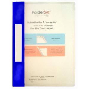 FolderSys Schnellhefter, Transparent, hellblau