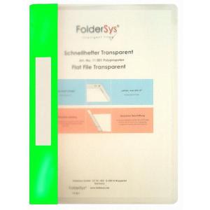 FolderSys Schnellhefter, Transparent, hellgrün