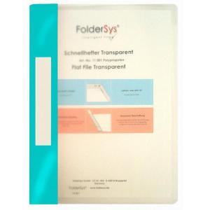FolderSys Schnellhefter, Transparent, türkis