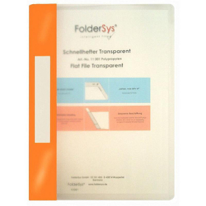 FolderSys Schnellhefter, Transparent, orange
