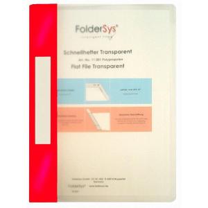 FolderSys Schnellhefter, Transparent, bordeauxrot