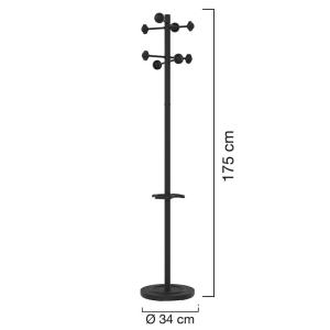Unilux Accueil Garderobenständer schwarz, 175 cm...