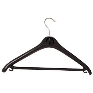 Unilux Klassik Kleiderbügel schwarz, 20 Stück