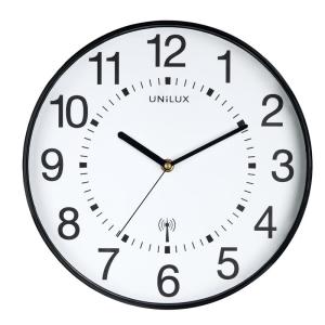Unilux Uhr MAXI WAVE schwarz