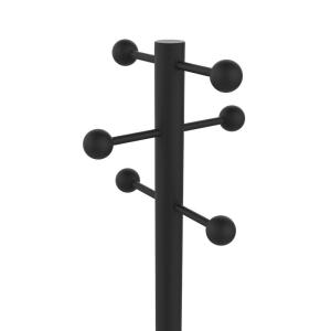 Unilux Access Garderobenständer schwarz, 175 cm hoch