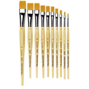da Vinci Schulpinsel Junior flach goldfarbene...