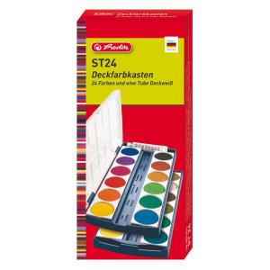 herlitz Deckfarbkasten - 24 Farben