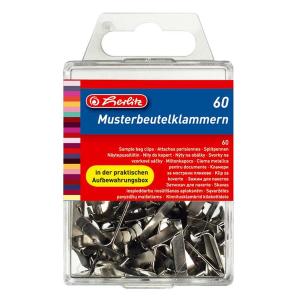 herlitz Musterbeutelklammer - Metall - weißblank -...