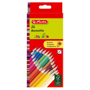 herlitz Dreikantbuntstift - 2,5 mm - 24 Farben