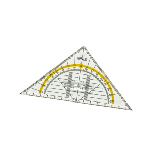 herlitz Geometrie-Dreieck - 14 cm - mit Griff