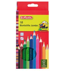 herlitz Jumbo Buntstifte - 5 mm - 10 Farben