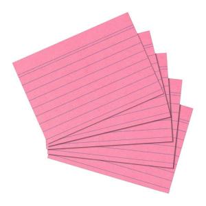 herlitz Karteikarten - DIN A6 - liniert - rosa - 100...