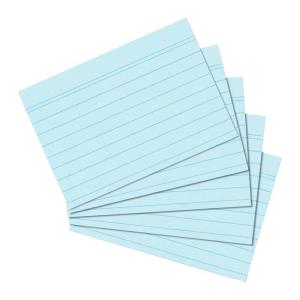 herlitz Karteikarten - DIN A6 - liniert - blau - 100...