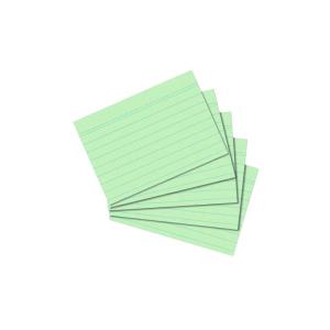 herlitz Karteikarten - DIN A8 - liniert - grün - 100...