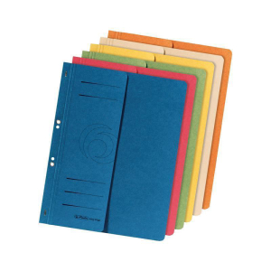 herlitz Ösenhefter - DIN A4 - 1/2 Vorderdeckel - blau