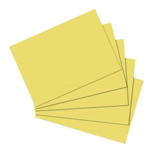 herlitz Karteikarten - DIN A5 - blanko - gelb - 100...
