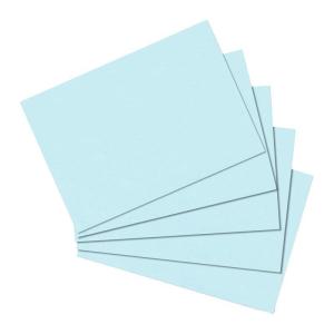 herlitz Karteikarten - DIN A6 - blanko - blau - 100...