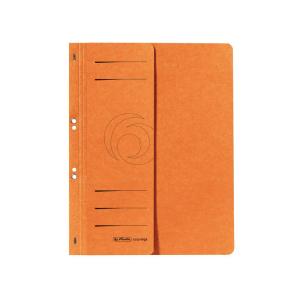 herlitz Ösenhefter - DIN A4 - 1/2 Vorderdeckel - orange
