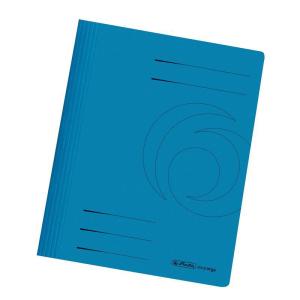 herlitz Schnellhefter - DIN A4 - Manila-Karton - blau