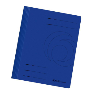 herlitz Schnellhefter - DIN A4 - Manila-Karton - dunkelblau