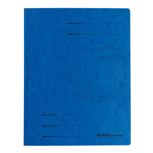 herlitz Schnellhefter - DIN A4 - Quality-Karton - blau