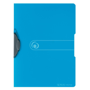 herlitz Express-Clip - DIN A4 - PP - transparent blau