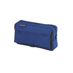 herlitz Faulenzer mit 2 Außentaschen - blau