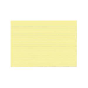 herlitz Karteikarten - DIN A5 - liniert - gelb - 100...