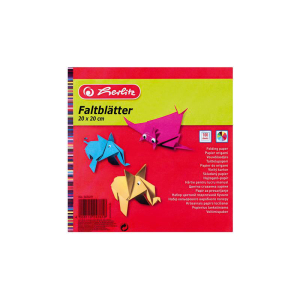 herlitz Faltblätter - 20 x 20 cm - farbig - 100 Blatt