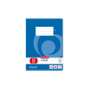 herlitz Oktavheft - DIN A6 - Lineatur 51 - 60 Blatt
