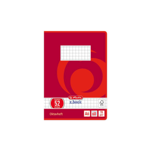 herlitz Oktavheft - DIN A6 - kariert - 60 Blatt