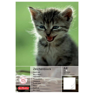 herlitz Zeichenblock - DIN A4 - 8 Motive sortiert - 20 Blatt