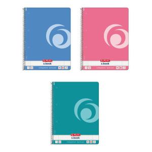 herlitz Spiralblock - DIN A4 - indonesia pink - kariert -...