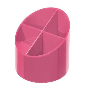 herlitz Köcher - rund - indonesia pink - 4 Fächer