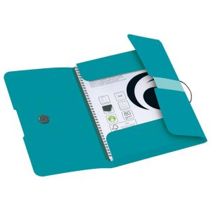 herlitz Gummizugmappe - DIN A4 - Caribbean Turquoise