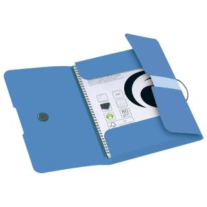 herlitz Gummizugmappe - DIN A4 - PP - baltic blue