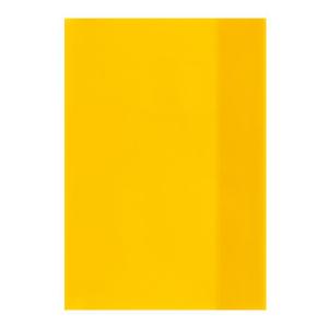 herlitz Hefthülle - DIN A5 - transparent - gelb