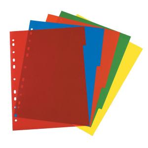 herlitz Register - DIN A4 - 5 Taben - 5 Farben