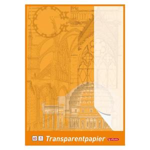 herlitz Transparentpapierblock - DIN A3 - weiß - 25...