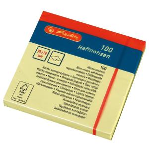 herlitz Haftnotizen - 75 x 75 mm - 100 Blatt - hellgelb